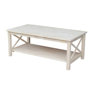 Unfinished Solid Parawood Hampton Sofa/ Console Table