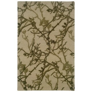 Linon Ashton Beige/ Olive Area Rug (8' x 11')