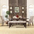 INSPIRE Q Huntington Trestle Baluster 6-piece Extending Dining Set