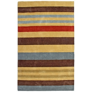 Hand-tufted Cosmo Striped Wool Rug (8' x 10')