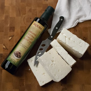 Premium Greek Extra Virgin Olive Oil and Feta Combo