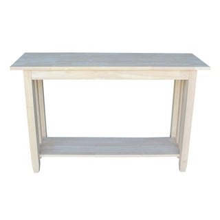 Unfinished Solid Parawood Mission Console/ Sofa Table