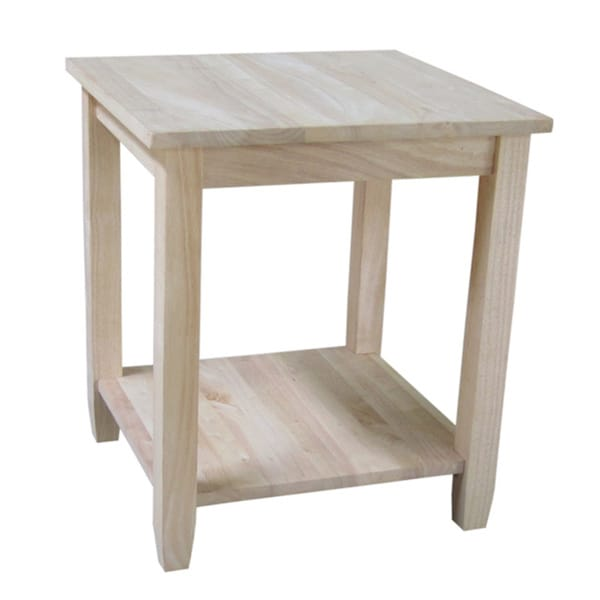solano unfinished solid parawood end table 16555054