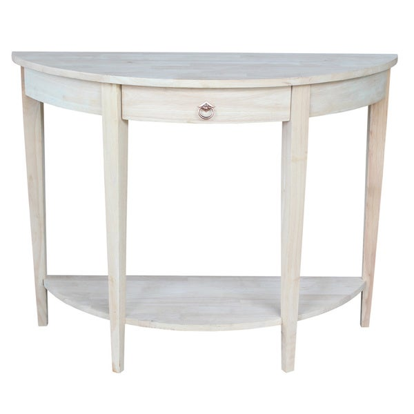 Half-moon Unfinished Modern Console Table - 16555050 - Overstock.com ...