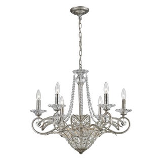 La Flor Sunset Silver and Crystal 9-light Chandelier
