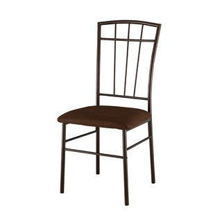 Gunmetal and Warm Cherry Dining Chairs (Set of 2)