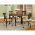 Black/ Walnut 5-piece Dining Room Set
