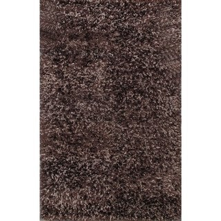 Solid Brown Shag Rug (4.9' x 8')