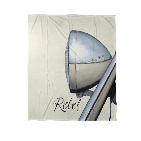 Thumbprintz Rebel Coral Fleece Throw