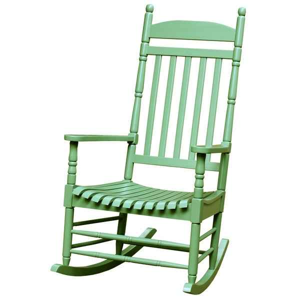 turned post acacia wood porch rocker 16555269