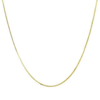Sterling Essentials 14k Gold 14-inch Box Chain Necklace
