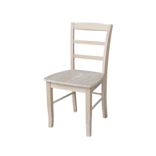 Unfinished Solid Parawood Madrid Dining Chair (Set of 2)