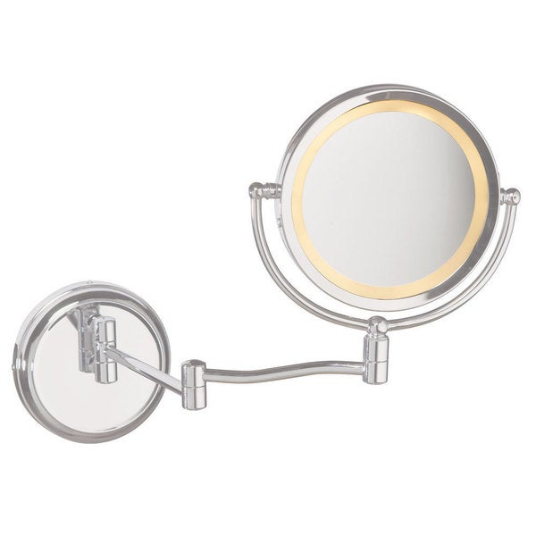 dain o lite swing arm lighted magnifier mirror 16555323 overstock. Black Bedroom Furniture Sets. Home Design Ideas