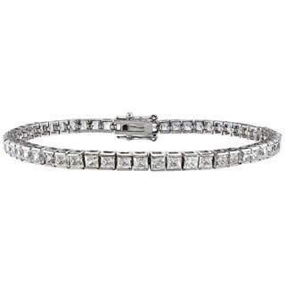 14k White Gold 5ct TDW Princess-cut Diamond Tennis Bracelet (G-H, SI2)