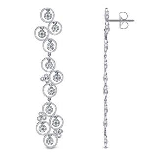 Auriya 14k White Gold 1ct TDW Linear Diamond Earrings (G-H, SI1-SI2)