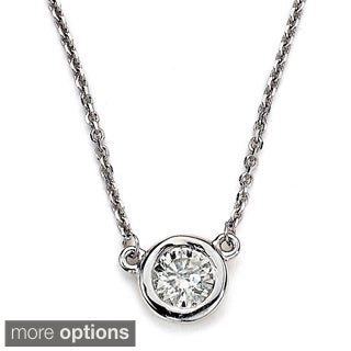 Diamonds For A Cure 14k White Gold 2/5ct TDW Diamond Solitaire Necklace (H-I, SI1-SI2)