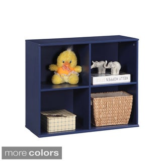 Wooden 4-opending Cubby Storage Unit