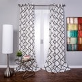 OVERSTOCK EXCLUSIVE Morocco Flocked Faux Silk Grommet-top 96-inch Curtain Panel