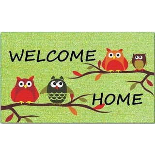 'Welcome Home' Printed PVC and Coir Mat