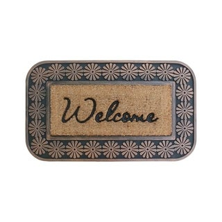 Natural Copper Finish Rubber and Coir Brush Mat