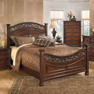 Signature Design by Ashley Leahlyn Warm Brown Bed