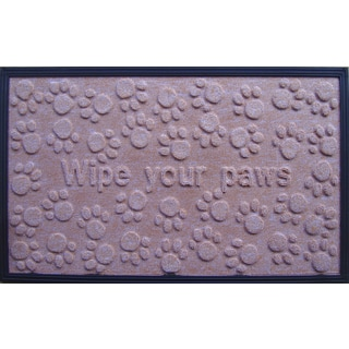 'Wipe Your Paws' Molded Polypropylene Mat