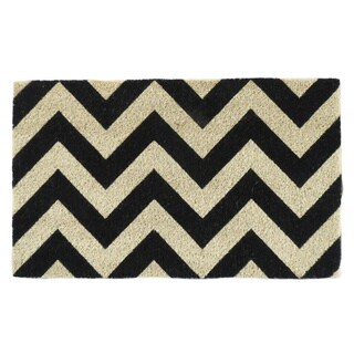 Chevron Pattern Printed PVC Tufted Coir Mat