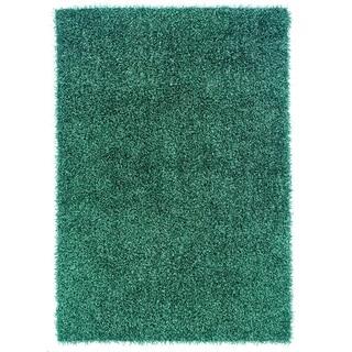 Linon Confetti Turquoise Area Rug (5' x 8')