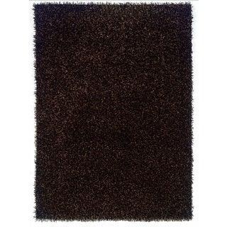 Linon Confetti Brown/ Beige Area Rug (8' x 10')