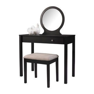 Linon Scarlett Black Wood Vanity