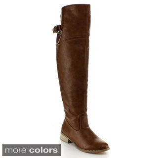 Nature Breeze Women's 'Olympia-02' Over-the-Knee Riding Boots