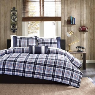 Mi Zone Alton Plaid 4-piece Coverlet Set