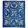 Thumbprintz Blue Mosaic Coral Fleece Throw
