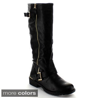 Nature Breeze Women's 'Lug-35HI' Knee-high Riding Boots