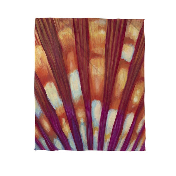 Thumbprintz Shell Coral Fleece Throw