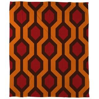 Thumbprintz Carpet Red Coral Fleece Throw