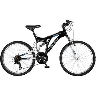Polaris Boy's Black Ranger Full Suspension Mountain Bike with 24-inch Wheels and 17-inch Frame