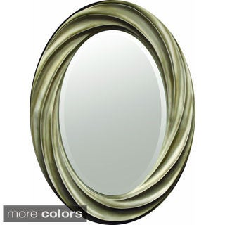Swirl-frame Decorative Oval Mirror
