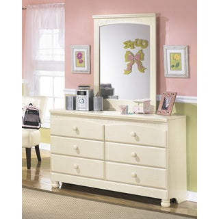 Signature Designs by Ashley Cream Cottage Retreat Dresser and Mirror