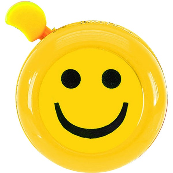 M-Wave Yellow 'Always Smilin' 3D Bicycle Bell 13817333
