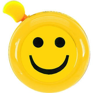 M-Wave Yellow 'Always Smilin' 3D Bicycle Bell