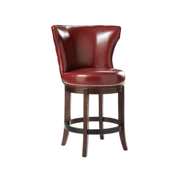 Sunpan 5west Tavern Bonded Leather Swivel Counter Stool