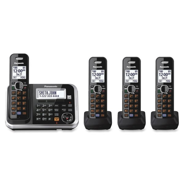 Panasonic KX-TG6844B DECT 6.0 1.90 GHz Cordless Phone - Black
