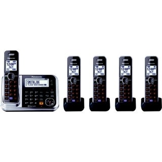 Panasonic Link2Cell KX-TG7875S DECT 6.0 1.90 GHz Cordless Phone - Sil