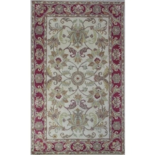 Broadway Ivory Hand-tufted Rug (5' x 8')