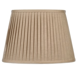 Drum Oat Linen Knife Pleat Lampshade