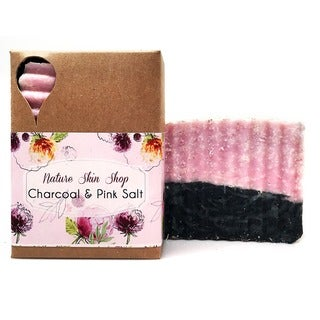 Nature Skin Shop Double Love Pink Salt and Activated Charcoal Soap