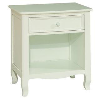 Emma White French-inspired 1-drawer Nightstand