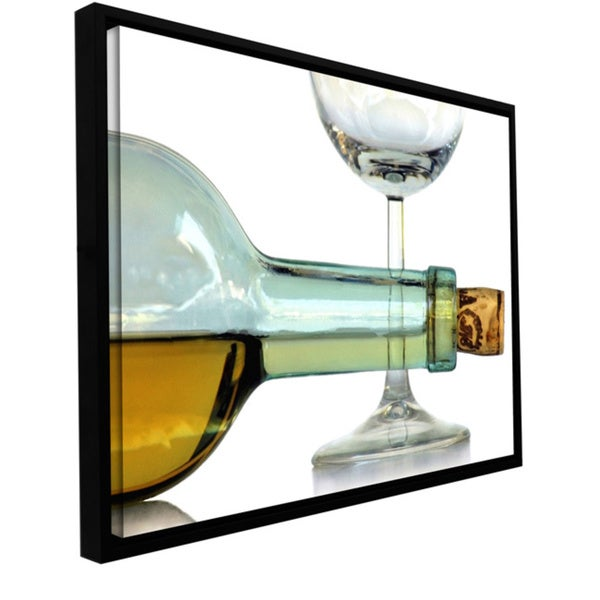 Dan Holm 'Bottle Plus Glass' Floater framed Gallery-wrapped Canvas 13819863