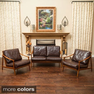 Christopher Knight Home Hampton Wood Frame Loveseat and Chair Set